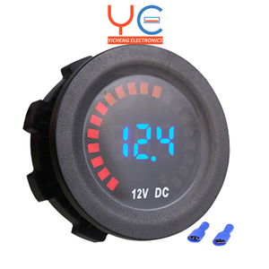 6-16 Vdc Panel Mount Gesegmenteerde Digitale Volt Meter Met Grafische Racing Display Voltage