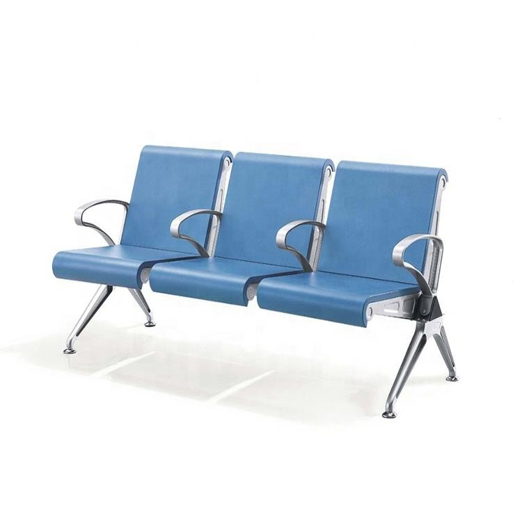 Factory price bank chairs 3-seater Hospital PU waiting chair Airport bench chair seat Airport seat