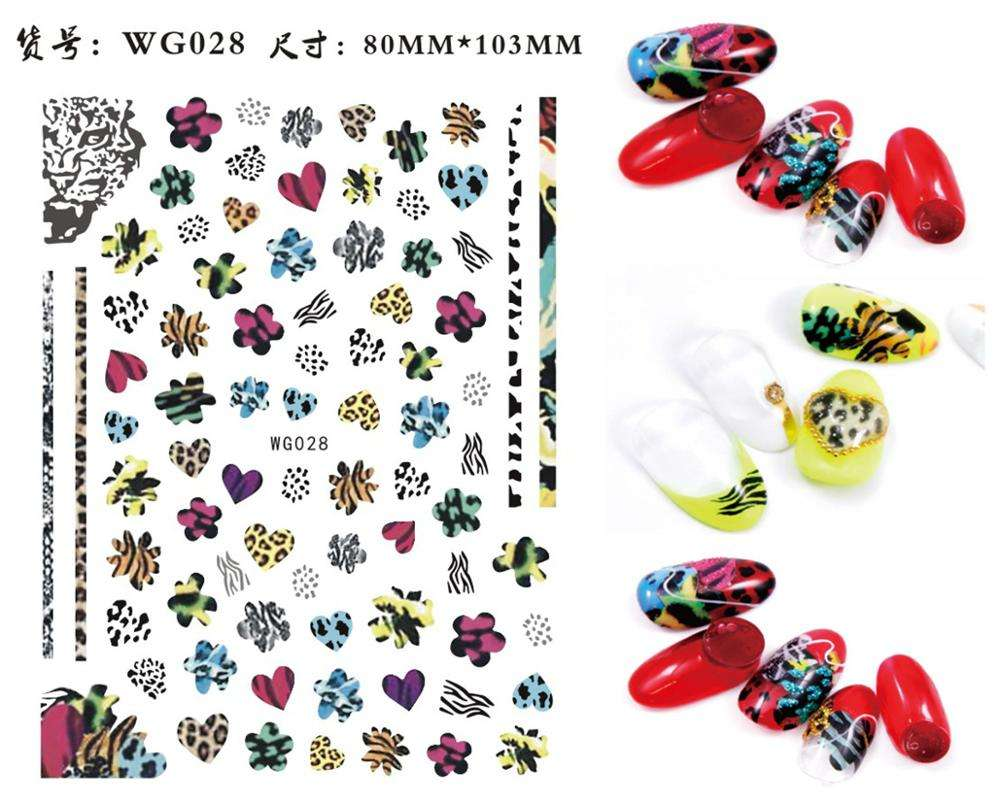 3D Nail Stickers Mixed Pattern Flower Animal Fruit Image Self-adhesive Transfer Decals Nail Decors