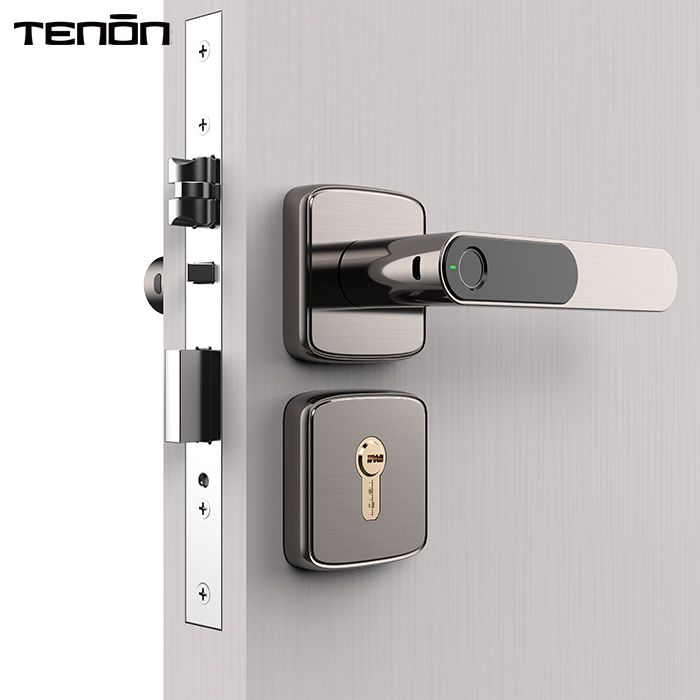 Wood door phone control Advanced Fingerprint Door Lock Password Smart Home Lock Series