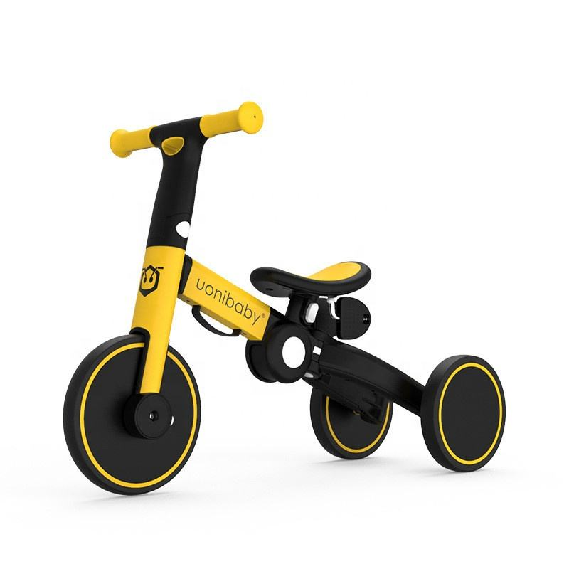 Uonibaby 4-in-1 children's pedal tricycle with push rod two-wheel balance without pedal children's bicycle