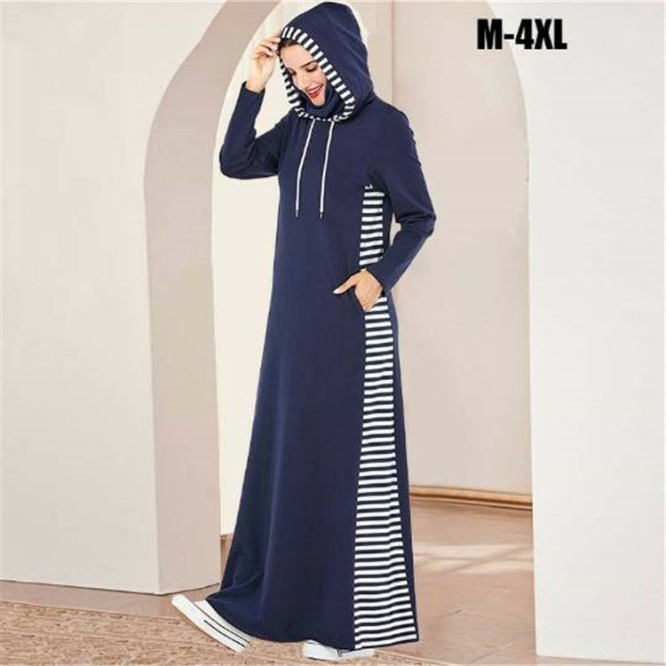 cotton abayas hooded dresses sport long dress arab full length caftan turkey middle east muslim women dress jersey abaya clothes