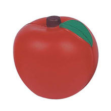 PU foam apple pressure relief toys squeeze apple stress ball