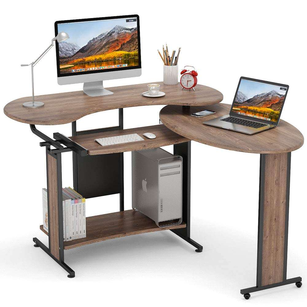 Mini Wooden Home Bedroom Furniture Bed Side Table Adjustable Laptop Stand Computer Table