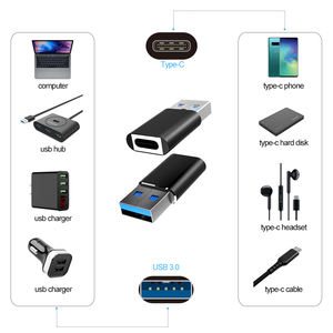 3A Fast Charge 5Gbps Data Transfer USB 3.1 Female Type c to Male USB 3.0 OTG Adapter connector