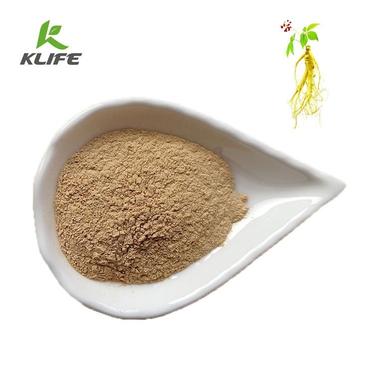 Wild Growing Ginseng leaf and stem Extract ginsenoside UV 80% powder ginseng extract