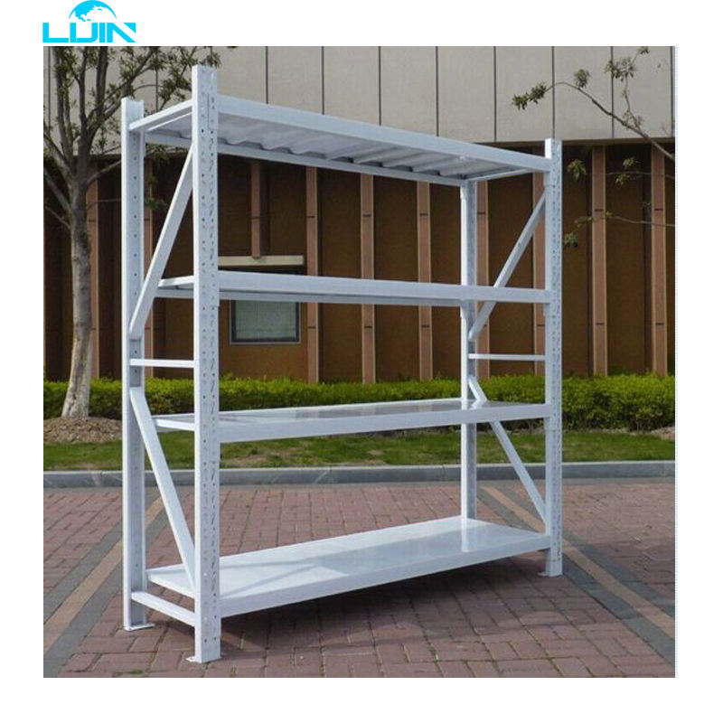 Beam Rack LIJIN SHELF Light Duty Commercial Industrial Shelving Adjustable Warehouse Shelves 4 Layers Racking System Height