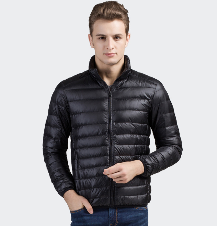 China factory plain blank black padded diamond quilted man down jacket for the winters