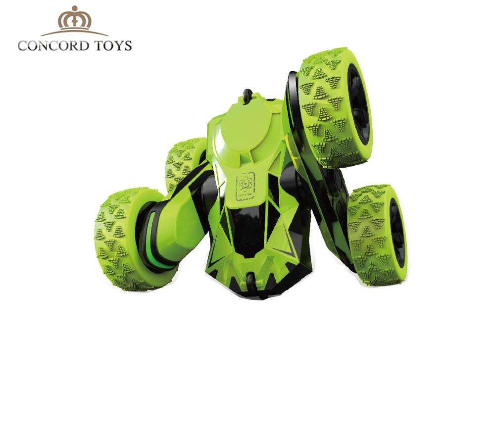 Wholesale New Kids Toy Car 4WD Double Sided RC Stunt Car 360 Degree Rotation Flip Over Stunt Car Funny Kids Radio Control Toys