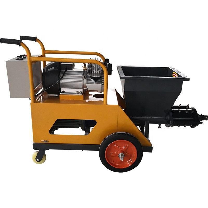 Small Construction Machinery Screw Cement Grout Pump Cement Mortar Grouting Spray Equipment Machine