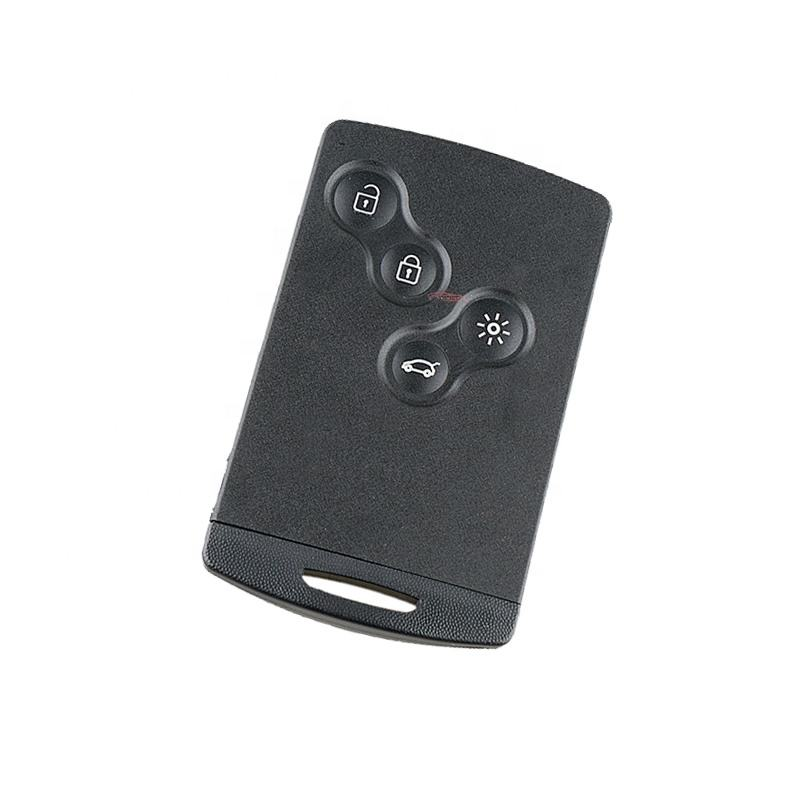 Originele Auto Chip Sleutel Smart Card 434Mhz Renault 4 Knop ID46 Chip Auto Afstandbedieningen