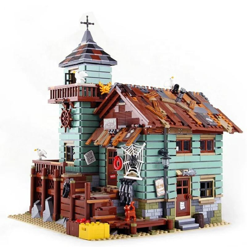 In Stock Toy Bricks Old Fishing Store Building Blocks with 21310 construction set brick toy