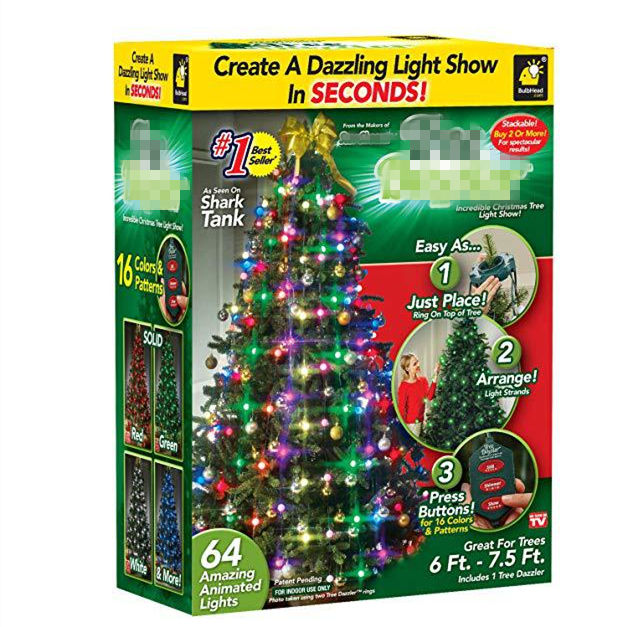 Christmas String Colourful 48 64 LED Lights Changeable Twinkling Night for Holiday New Year Decoration