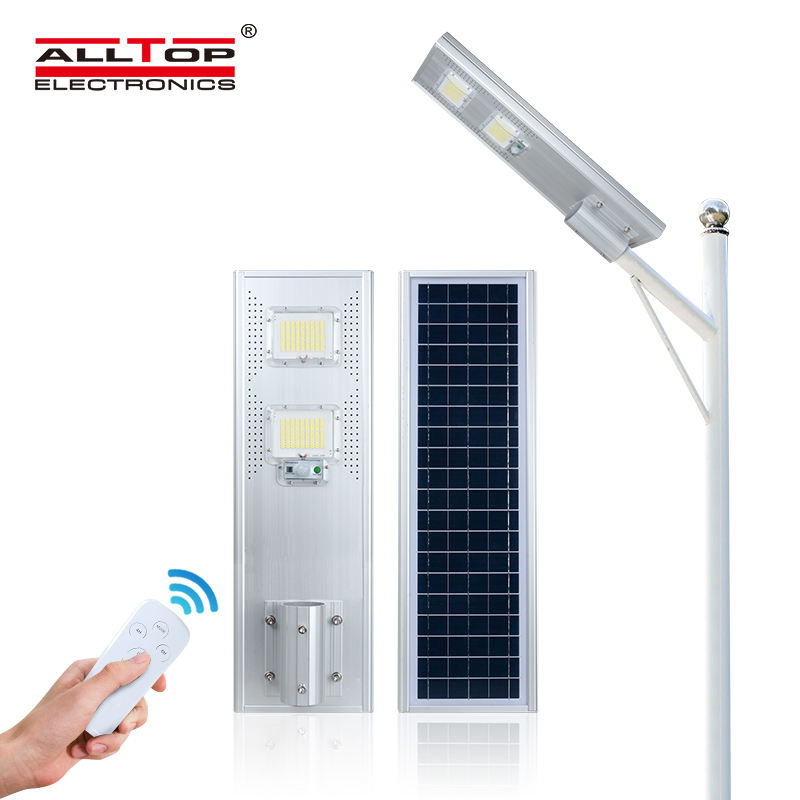 ALLTOP IP65 Outdoor waterproof time control pir sensor 60 120 180 watt solar led street lighting