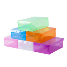 Simple and transparent candy color makes it easy to carry dust-proof acrylic shoebox