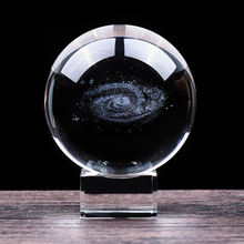 Artificial Crystal Galaxy Ball Decorative Glass 3D Ball For Graduation Gifts