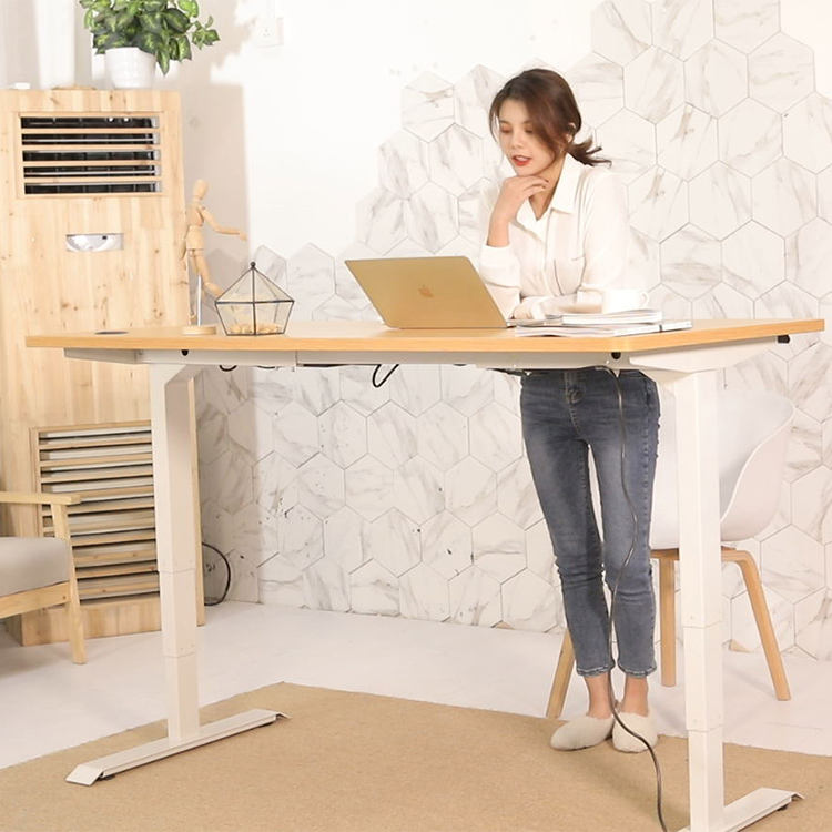 2020 modern office adjustable memory sit stand desk electric