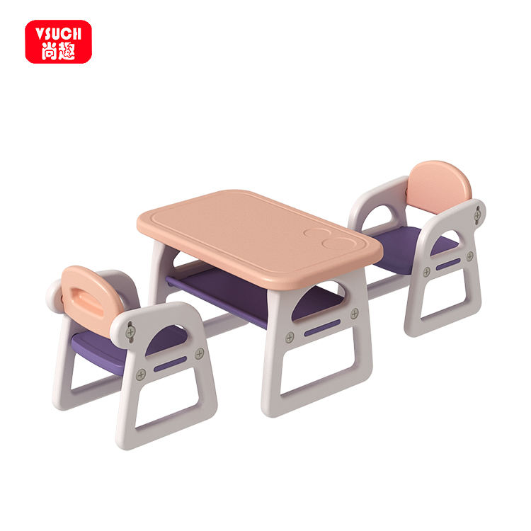 Kids Arts and Craft Table Chair Plastic Children Ergonomic Study Table