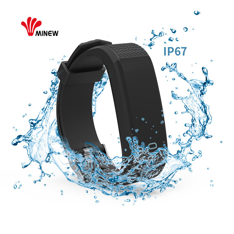 Portable wireless bluetooth smart social distance alarm wristband for employee tracking
