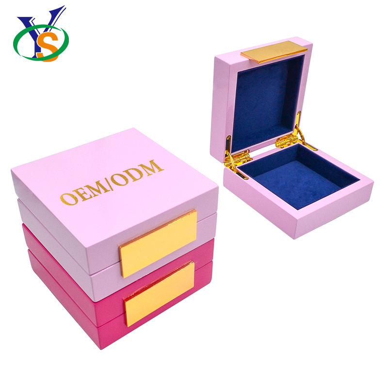 Eco Friendly Plain Dedoot Wooden Jewelry Craft Kids Simple Small Wood Box
