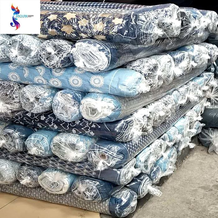 Manufacture 100%cotton denim embroidery stock lot fabric