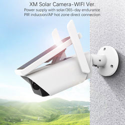 1080P bullet solar powered/battery IP cameras wifi direct with IR support PIR and TF card