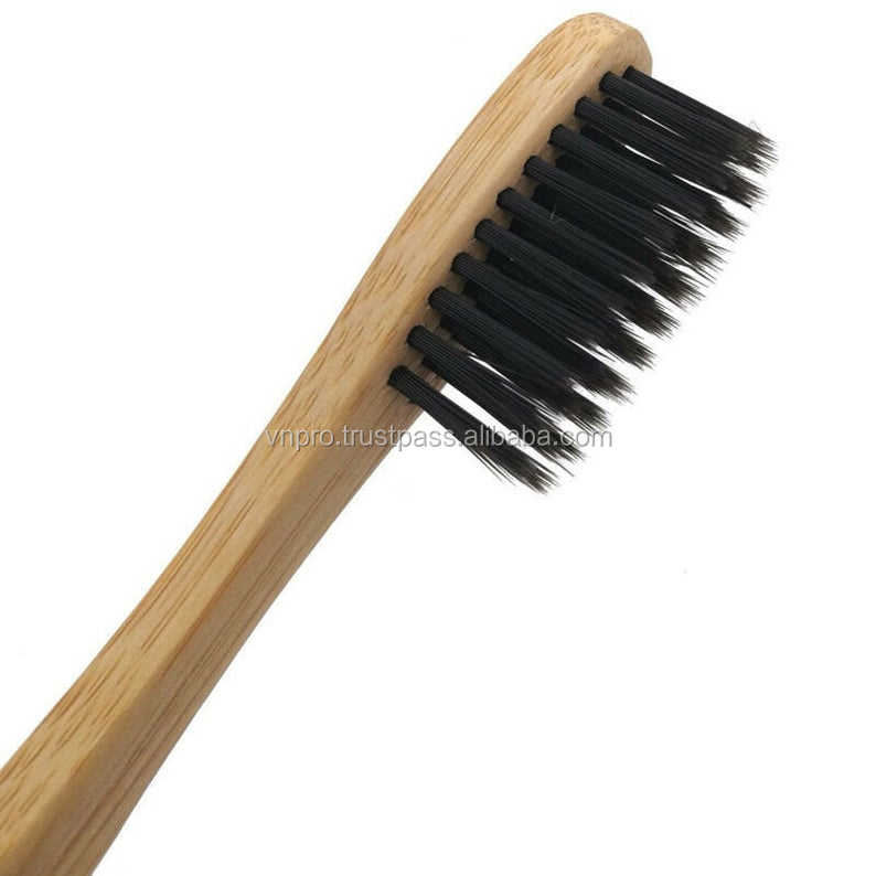 Amazon Hot Sale 2020 Black White Yellow color Personal Care Brosse A Dent Bambou Cepillos Dentales Zahnbrste Bamboo Toothbrush