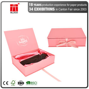 ALLICO Custom LOGO Luxury Cajas De Regalo Cardboard Gift Wig Hair Extension Magnetic Packaging Box
