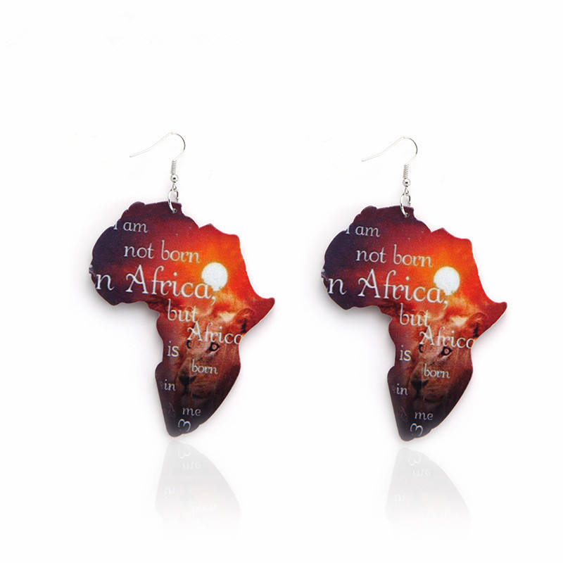 SH311 New fashion accessories geometric wooden african earrings for women