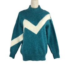 OEM Pullover Sweaters Jumper Knitted Women Blue Clothing Casual Turtleneck Winter Woollen Pocket Computer Knit Lady