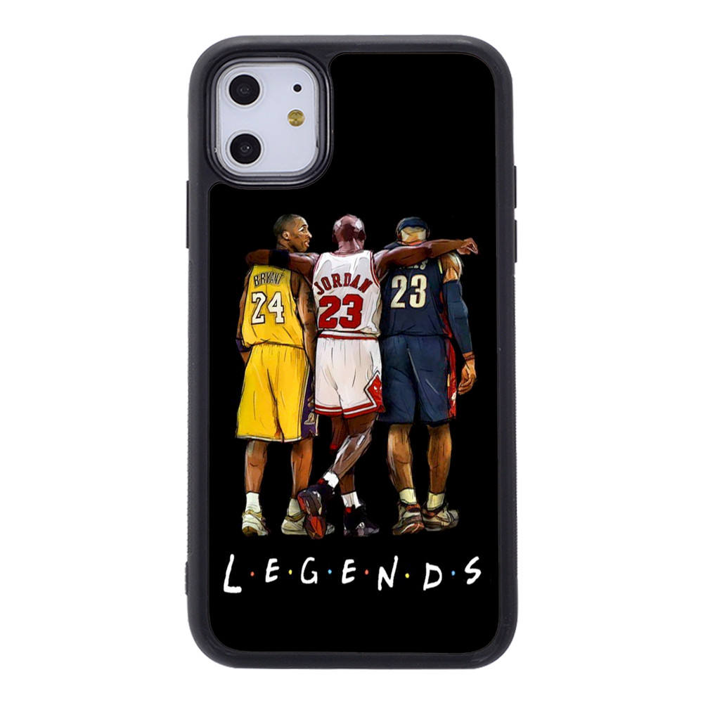 Basketball 2D sublimation for iphone 12 back case accessories for iphone 11 pro max 6s 8 cover with NBA Kobe lebron James