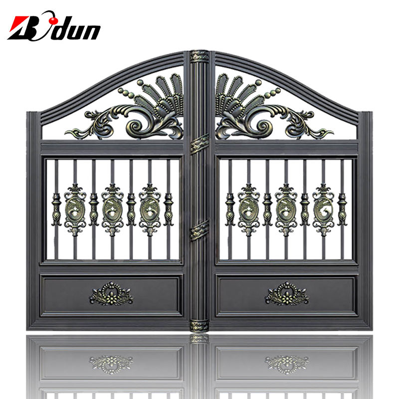 Decorative aluminum driveway gate design entrance security gate metal front door