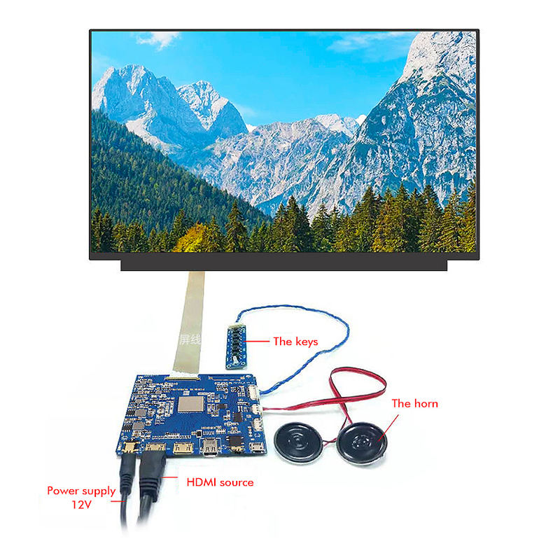 Global Best Verkopende 15.6 Inch 3840*2160 Dunne Fhd 4K Ips Lcd Monitor Touch Display Screen Module Voor custom