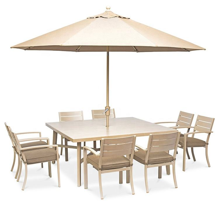Factory Wholesale New Arrival Modern Outdoor Dining Table Set