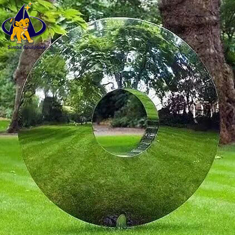 Simba91 Factory Wholesale Metal Ball Mirror Polished Stainless Steel Garden Sphere Sculpture