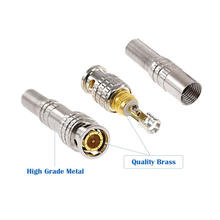 cheap prices mini copper golden 2 pin rg59 rg60 75 ohm 1.0 2.3 half inch rf male sma u f dc sma cable triaxial connector for bnc