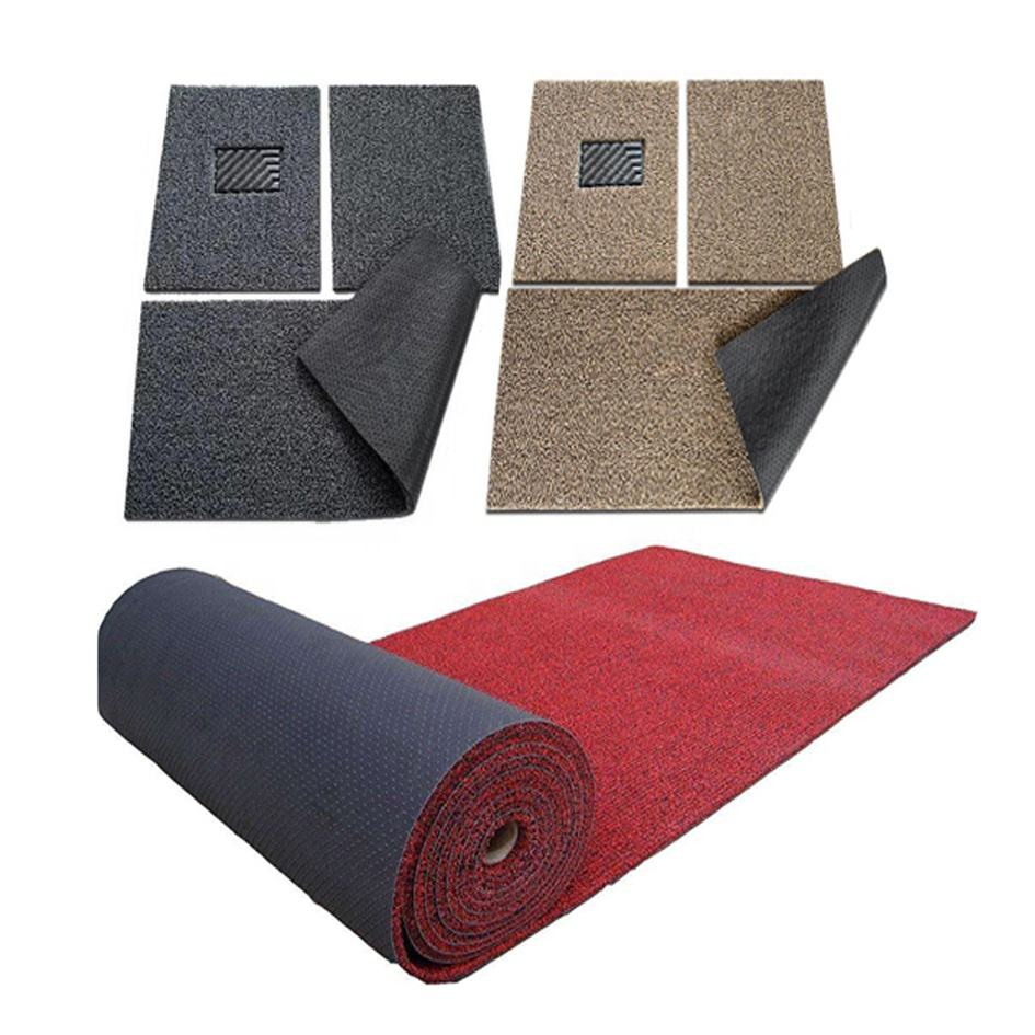 environment friendly 3 pcs set anti slip car mat with strong toughness back