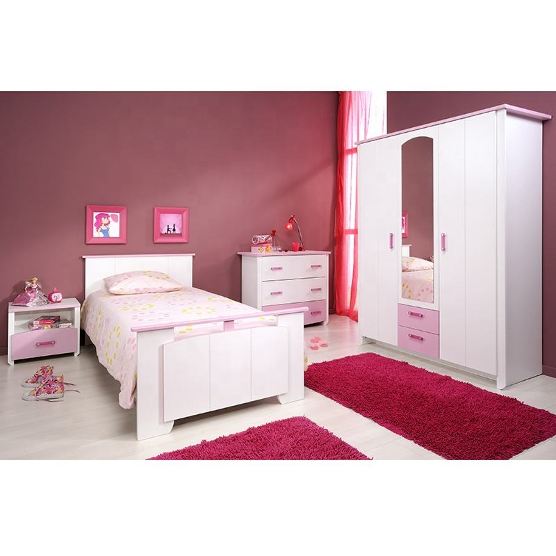Hot Sale Modern Princess Kids Bedroom Set 20KAD041 Children Furniture Sets Girl Bed
