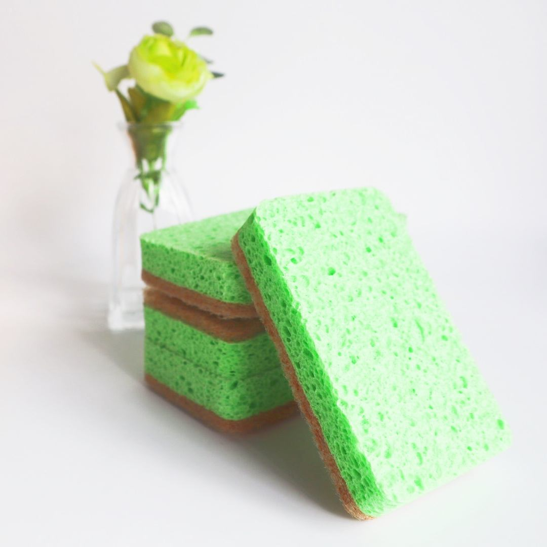 Natural sisal biodegradable bulk cleaning compressed cellulose sponge kitchen cleaning