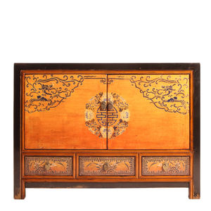 home storage cabinet home furniture Chinese classical hand painting cabinet High gloss furniture Console