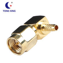 Right Angle SMA Male Connector Crimp For RG316 RG174 RF Coaxial Cable