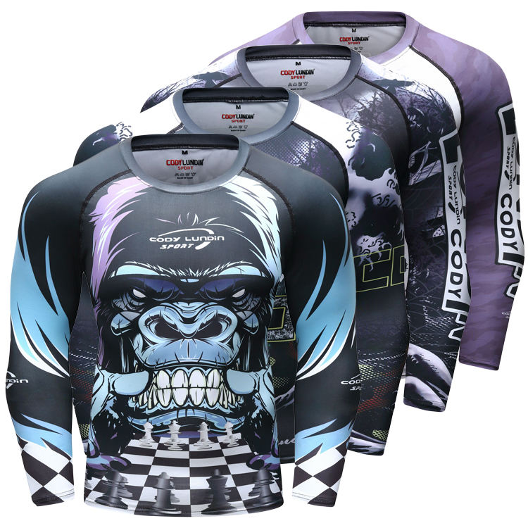 Brazilian Jiu Jitsu Clothes Custom Full Sublimation Compression Rashguard Shirt