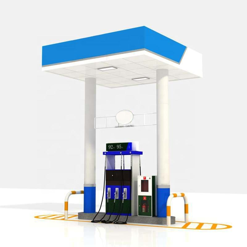 petrol gas station roof structure solar gas stations