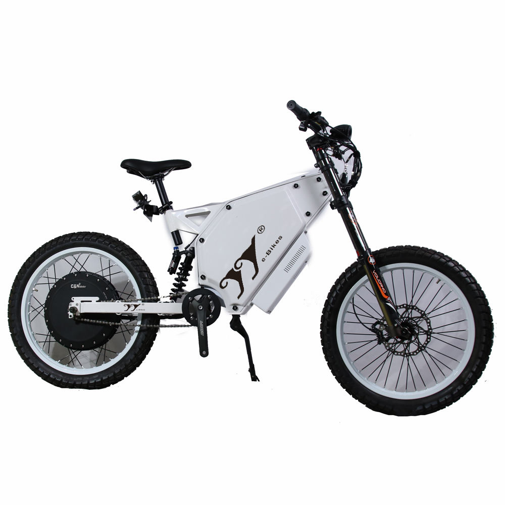 Super <span class=keywords><strong>Chopper</strong></span> 73 Elektrische Fiets Cruiser Stealth Bomber 12000W E Fiets Met Cycle Analyst V3 Display
