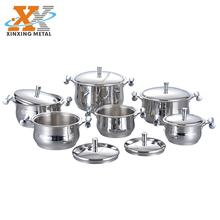 New Style 12PCS Stainless Steel Cookware Set Kitchenware Casserole