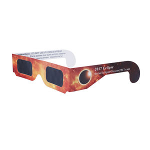 ISO certified solar eclipse glasses customized design eclipse viewing 3d paper glasses