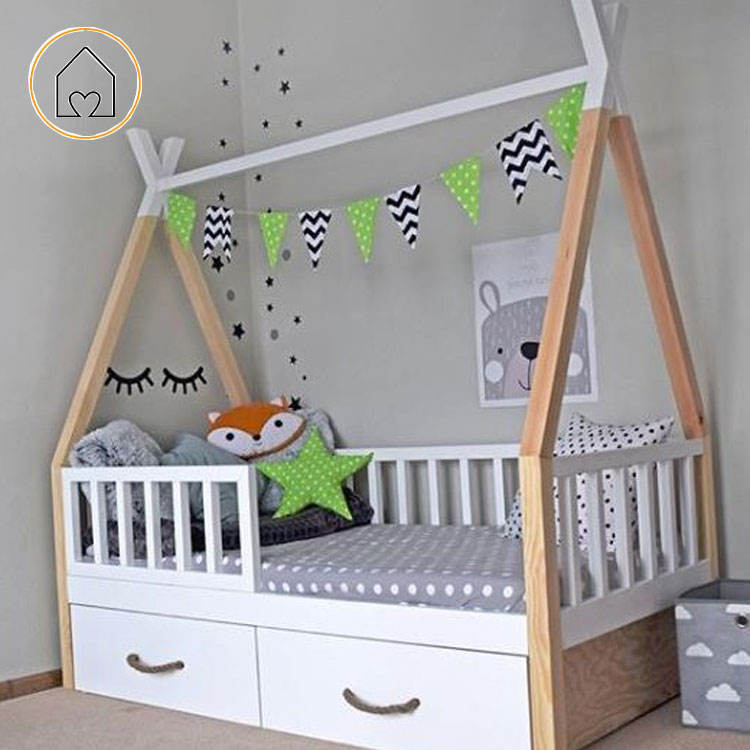 White on top kids children bedroom teepee bed