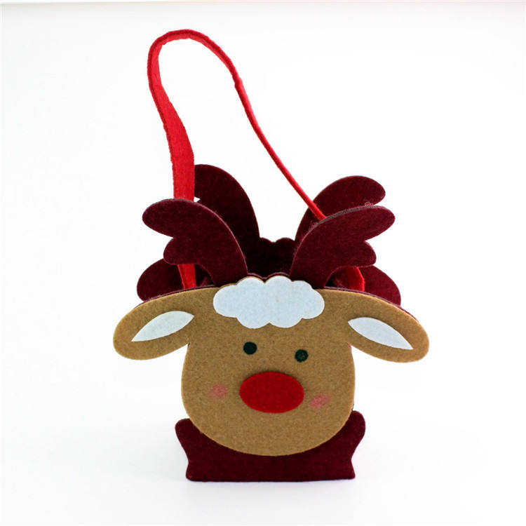 Christmas felt Bag Merry Xmas lamb sack back candy pack