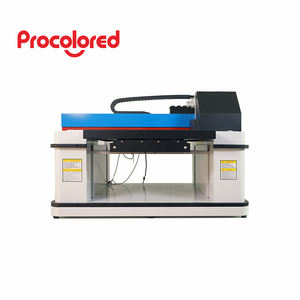 Procolored 2020 fully automatic dtg A2 uv printer 6060 for polo shirt printing with 2 print heads with Epson DX9 print head