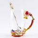320/350ML Lily Enamel Color Heat-resistant Transparent Glass Water Mug with Spoon Kit Brief Drinkware Office Coffee Milk Tea Cup